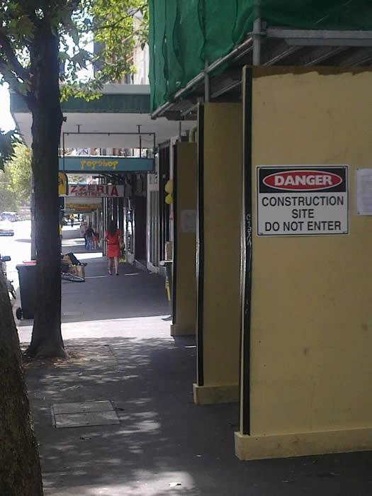 Type A Hoarding for hire - Australian Scaffolds