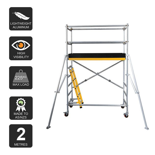 Aluminium Mobile Scaffold 2m